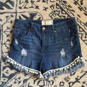 Altar'd State High Waisted Jean Shorts